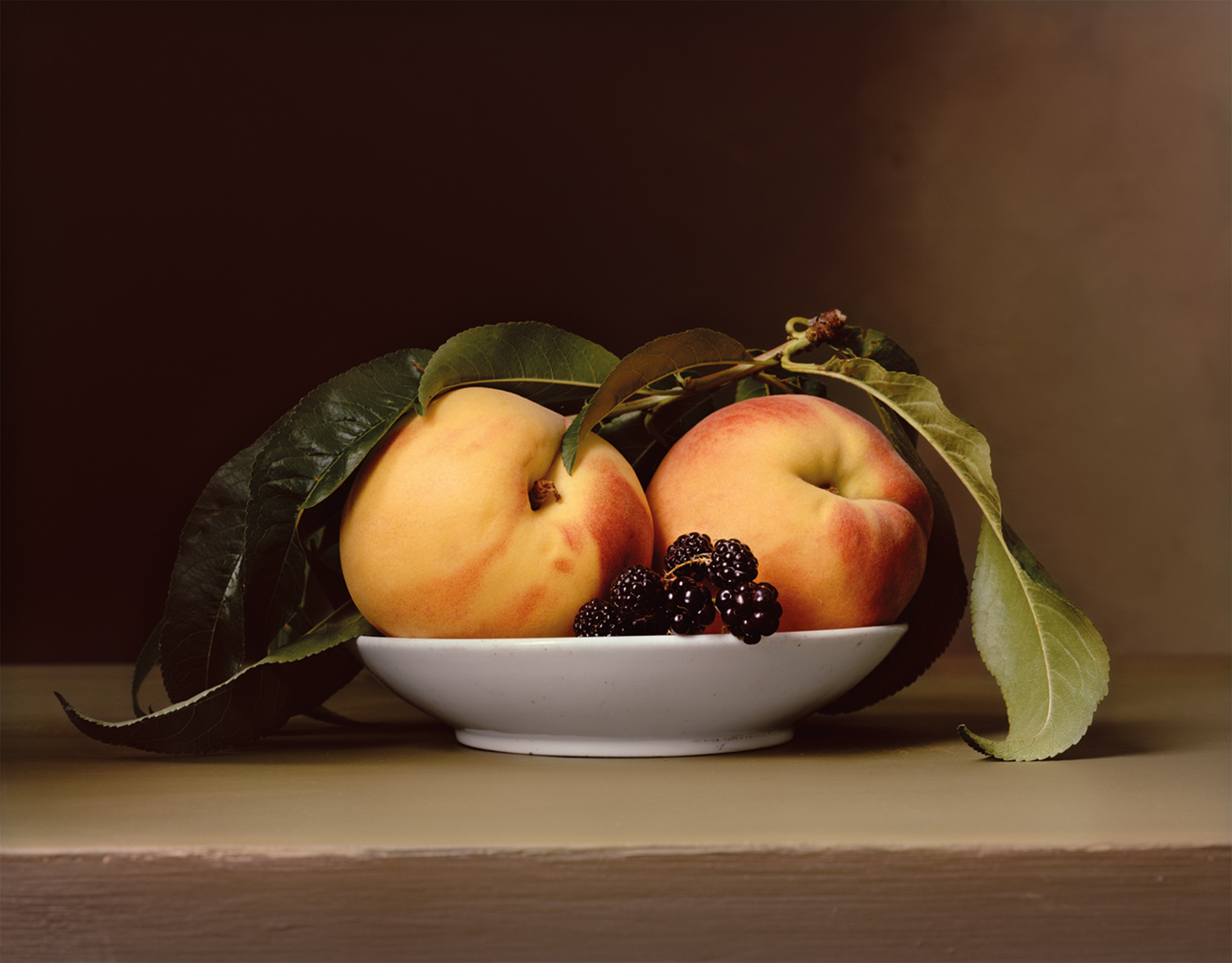 Plate 14 - Peaches and Blackberries
