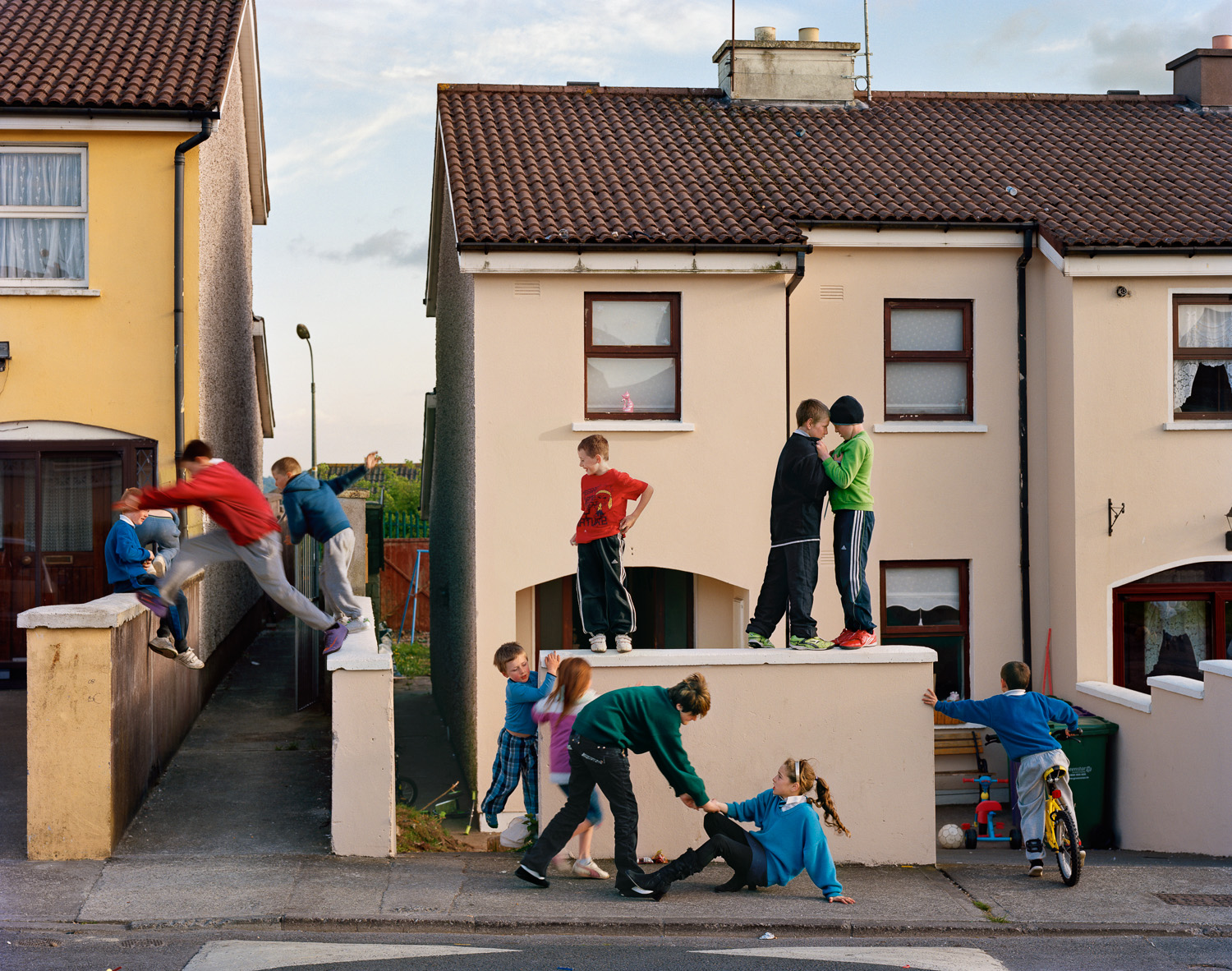 Russell Heights                                                                                              American photographer Doug DuBois has spent the past four summers documenting the lives of teenagers in Cobh County, Ireland, looking  at the bravado and adventure of childhood with an eye towards its fragility and inevitable loss.