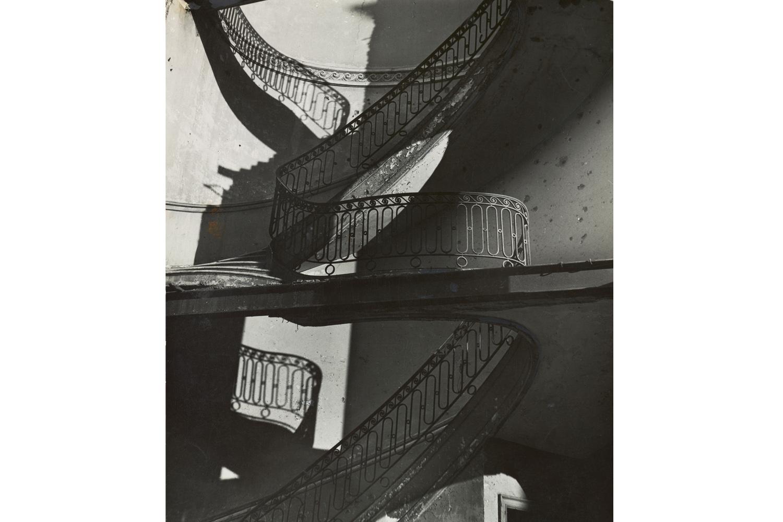 Bombed Regency Staircase, Upper Brook Street, Mayfair,                               1942