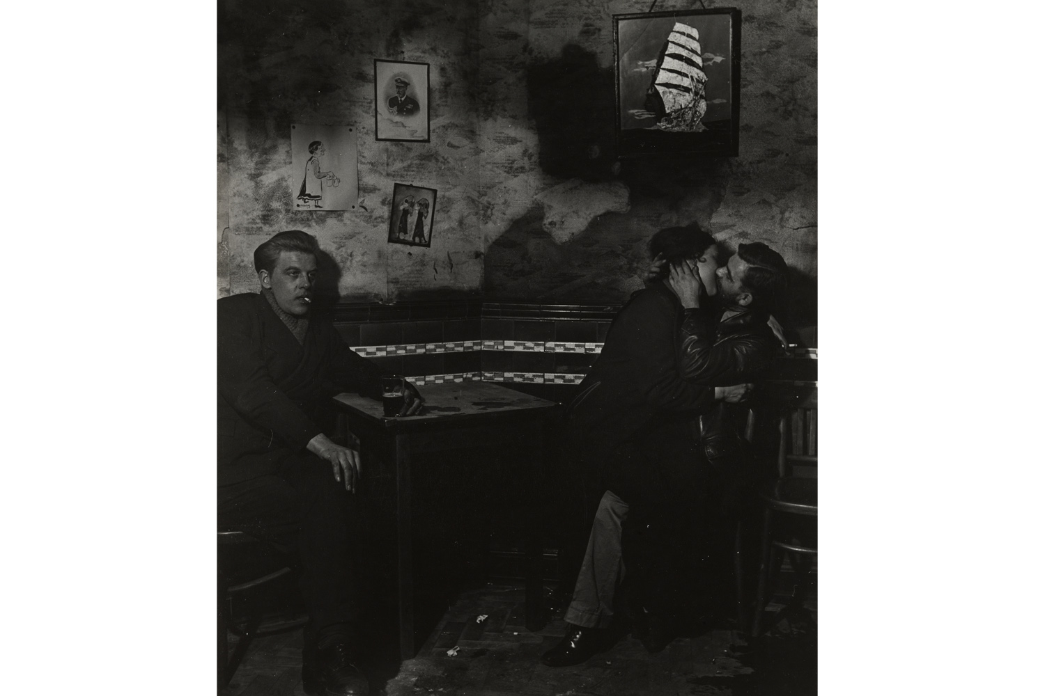 In the Public Bar at Charlie Brown's, Limehouse, 1942