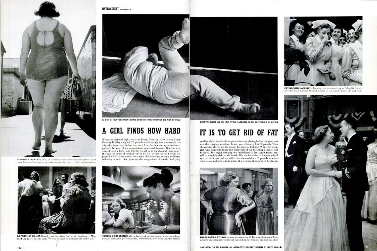 "LIFE magazine, March 8, 1954, ""The Plague of Overweight."""