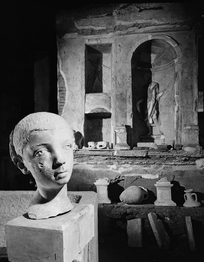 Scene during the excavation beneath St. Peter's in Rome, 1950.
