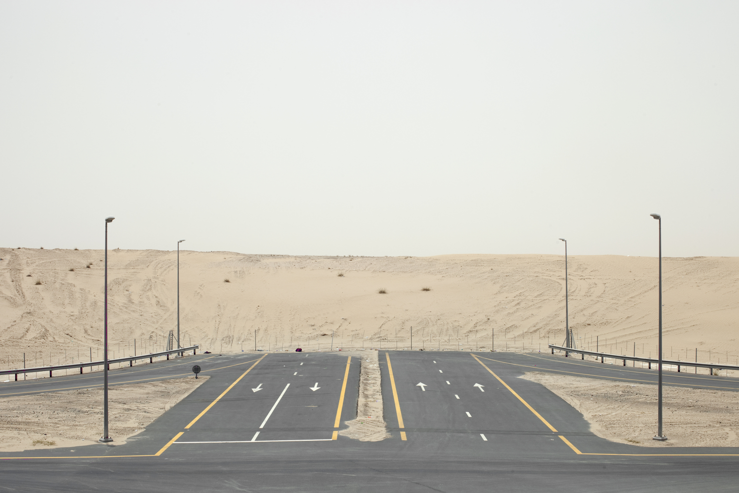 A road on the outskirts of Dubai.