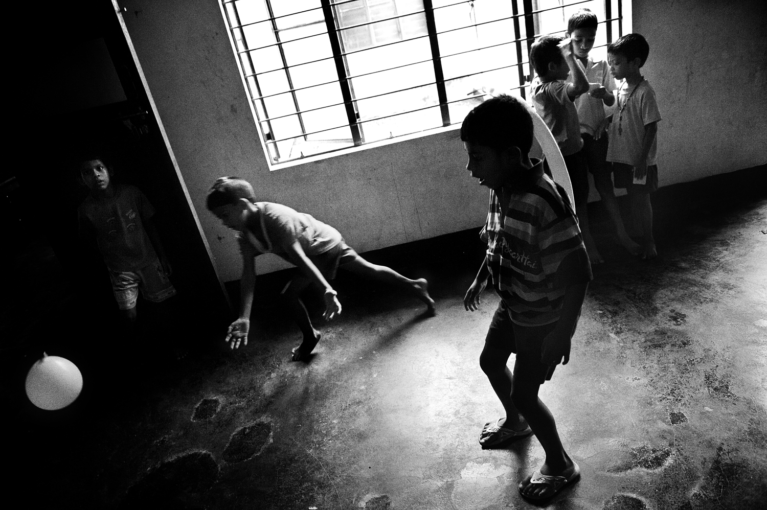 An orphanage in the city of Thodupuzha, Kerala. August 2009.