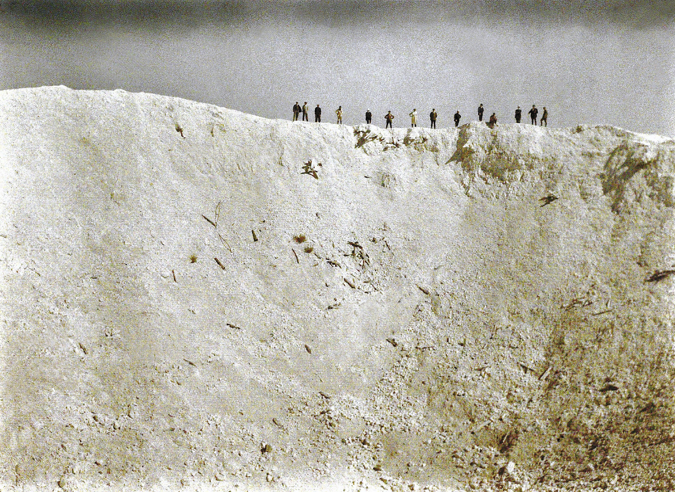A crater caused by the explosion of 19 mines placed underneath German positions near Messines in West Flanders by the British on June 7, 1917. A total of about 10,000 soldiers died, amongst them almost all of the 3rd Royal Bavarian Division. The blast was one of the biggest non-nuclear explosions of all times and was audible in Dublin and London.