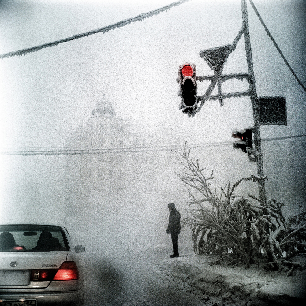 January 2013. A scene in Yakutsk, Siberia, the coldest city in the world.