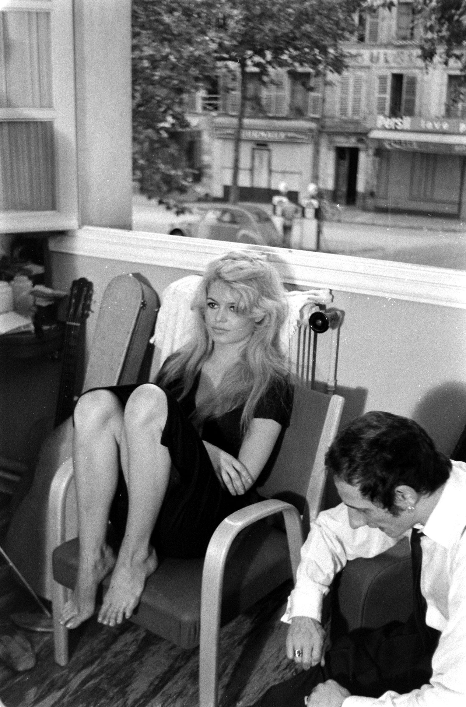 Brigitte Bardot on the set of the film, <i>La Femme et le Pantin</i>, Spain, 1958.