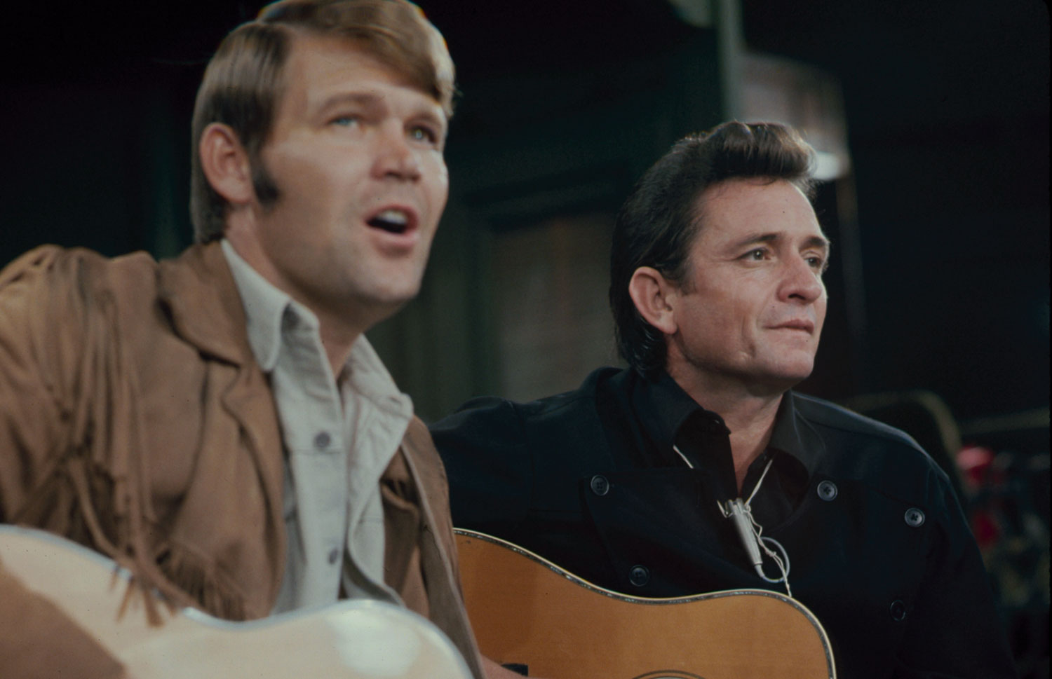 Johnny Cash and Glen Campbell, 1969.