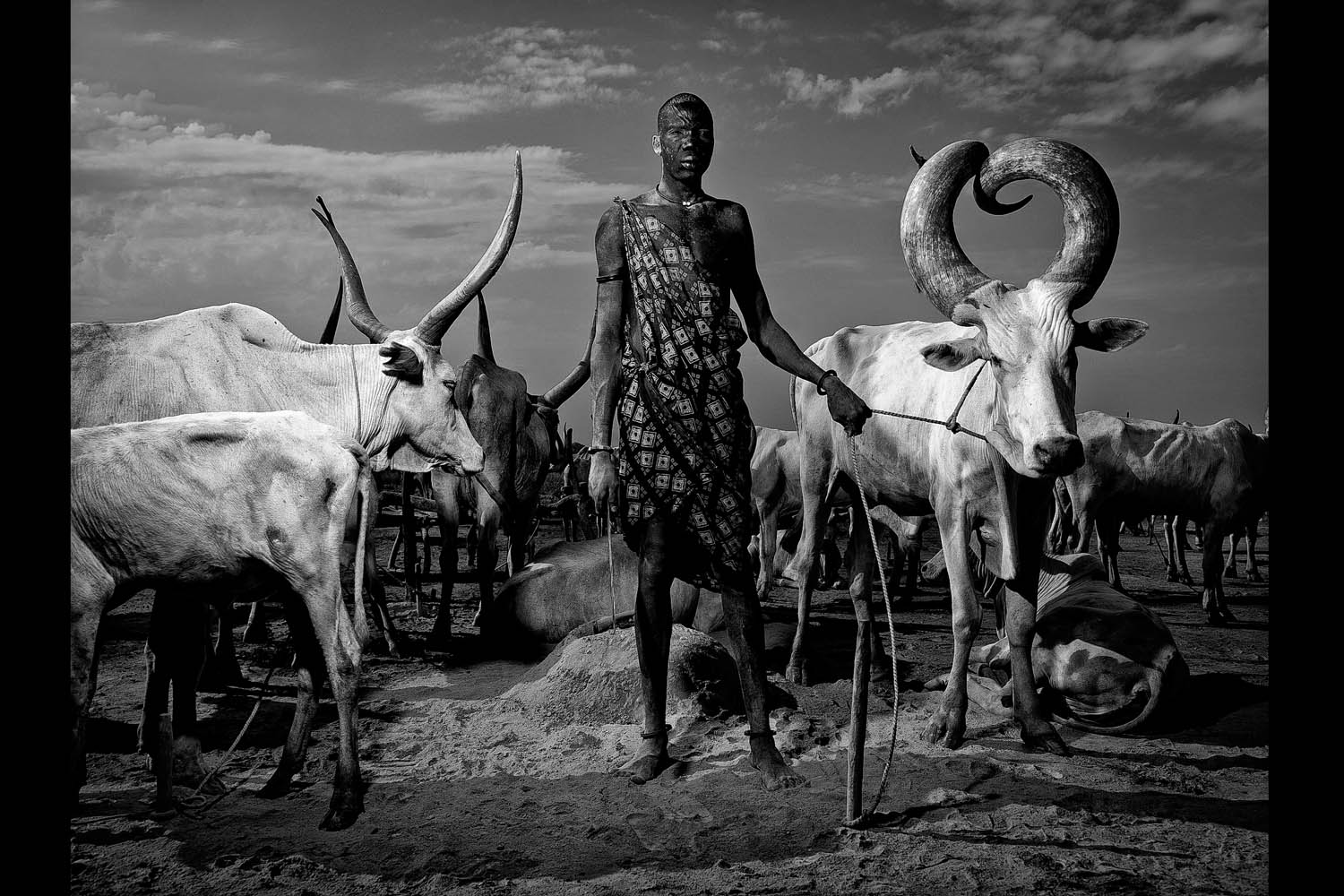 Mundari tribe members are especially vulnerable to the threat of land mines and other unexploded ordnance since they move around the country frequently to feed and water their cattle.