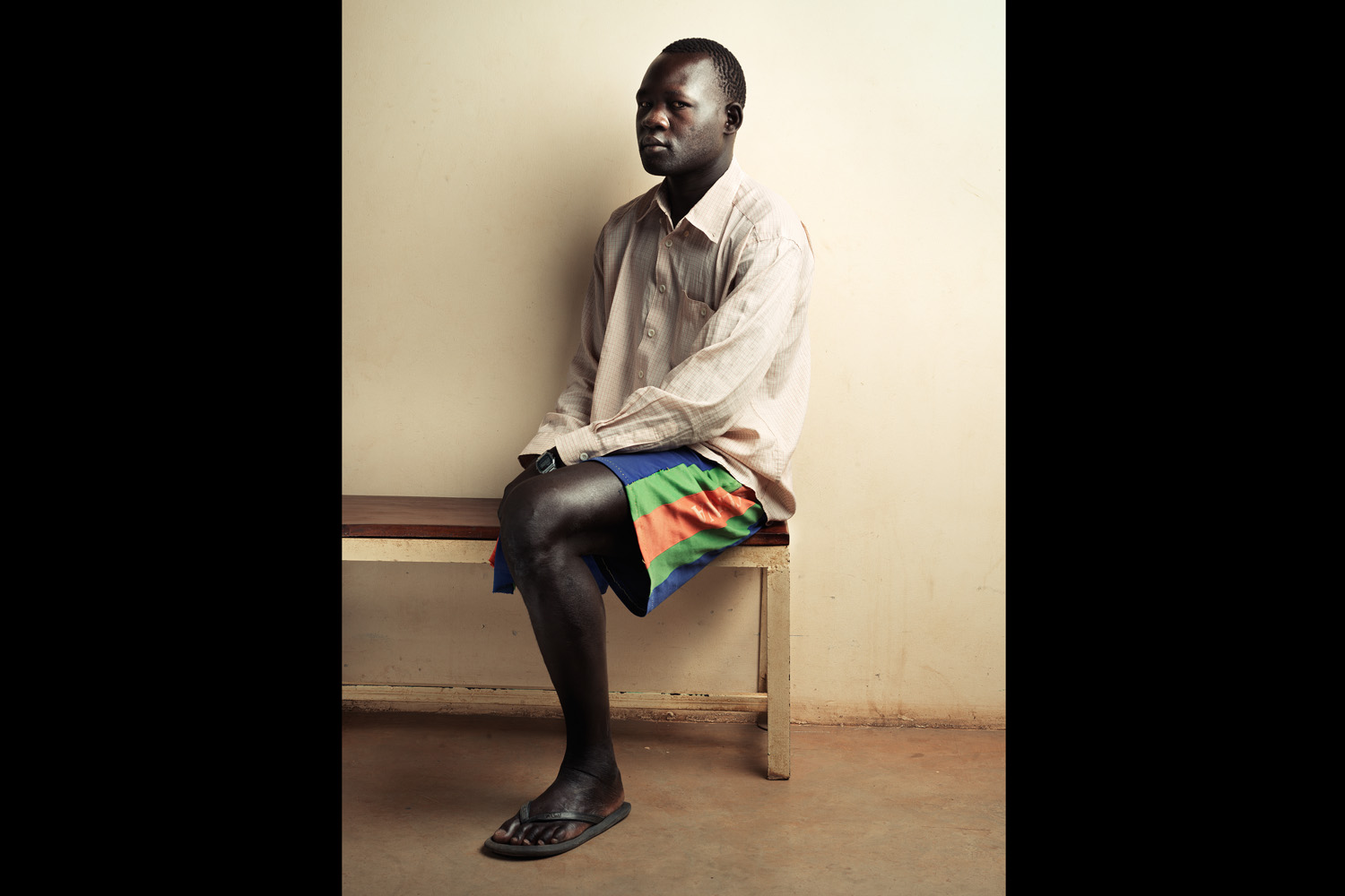 Peter Lukabon lost his right leg in a mine accident and is being treated at ICRC (International Committee of the Red Cross) in Juba, South Sudan.