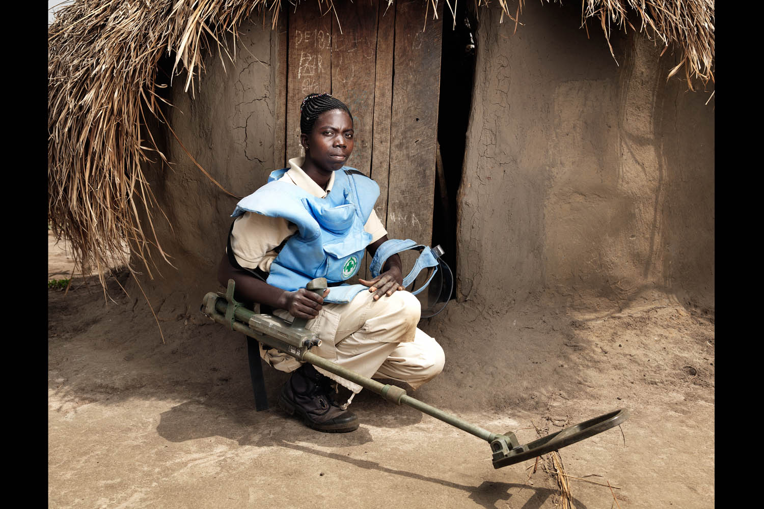 Juwa Stella is a deminer on an all-female demining team in Yei, South Sudan.