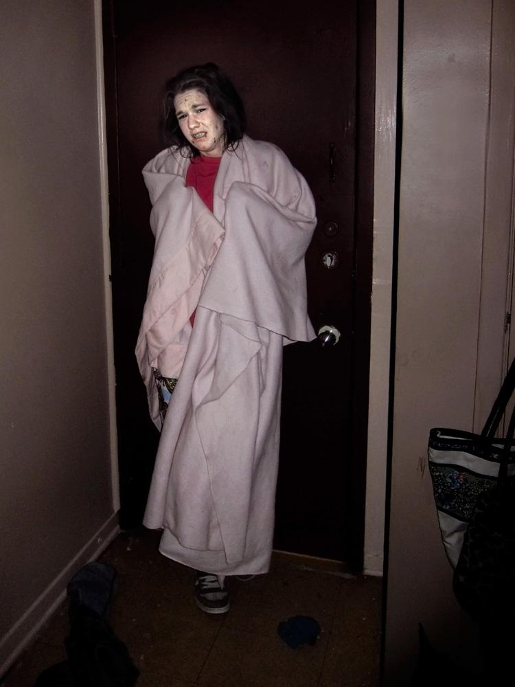 Steph in her room, Ottawa, January 12, 2011.