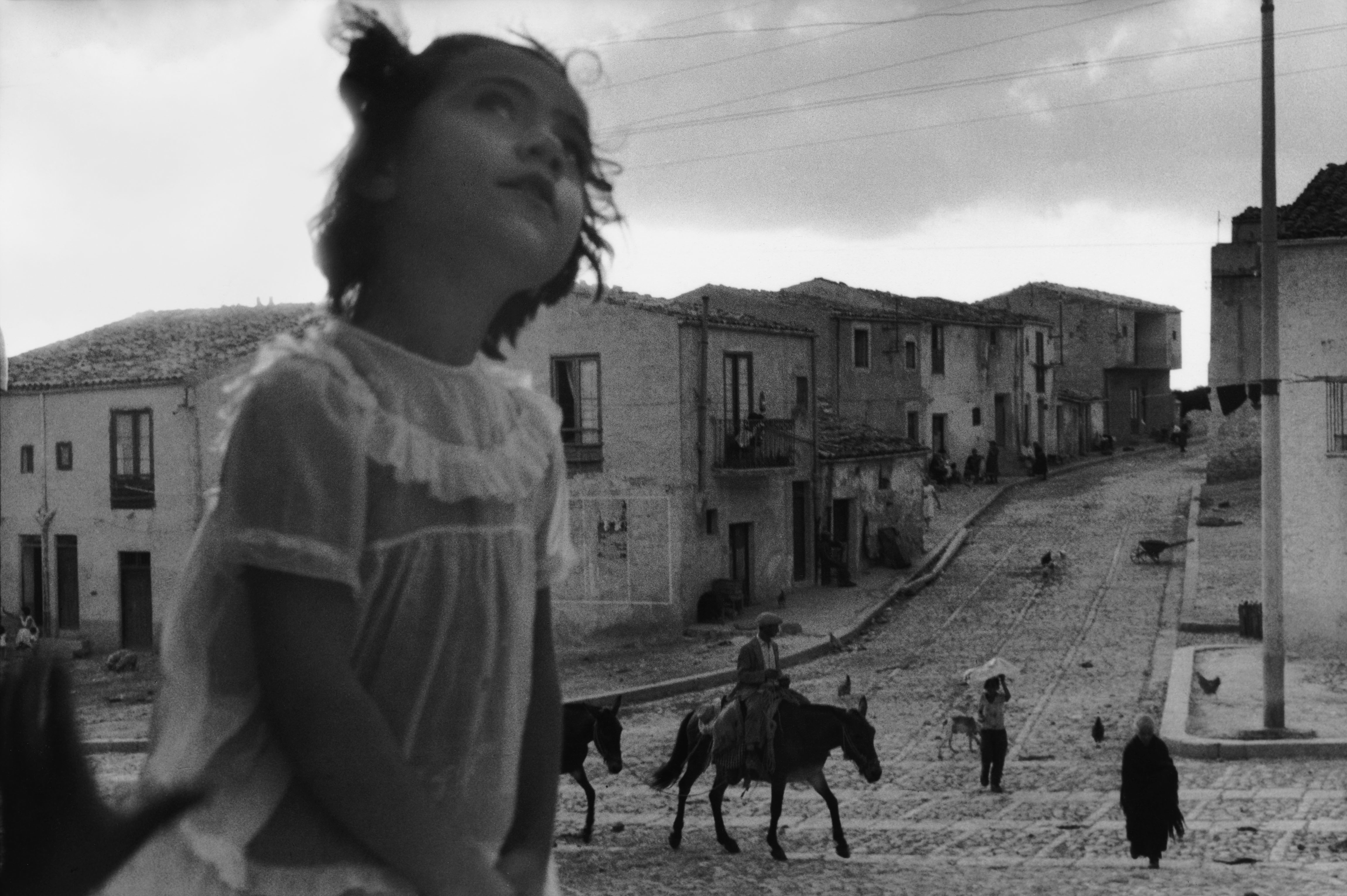 Undated picture from the main street of Corleone, Sicily.
