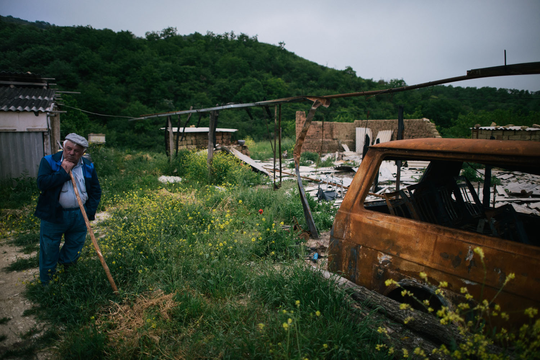 The farm where Plotnikov was killed near the village of Utamysh.