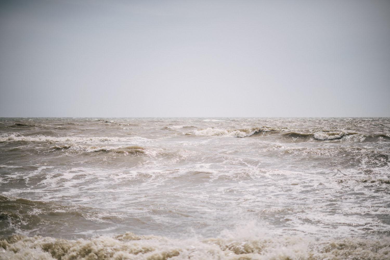 The Caspian Sea, outside of Makhachkala.