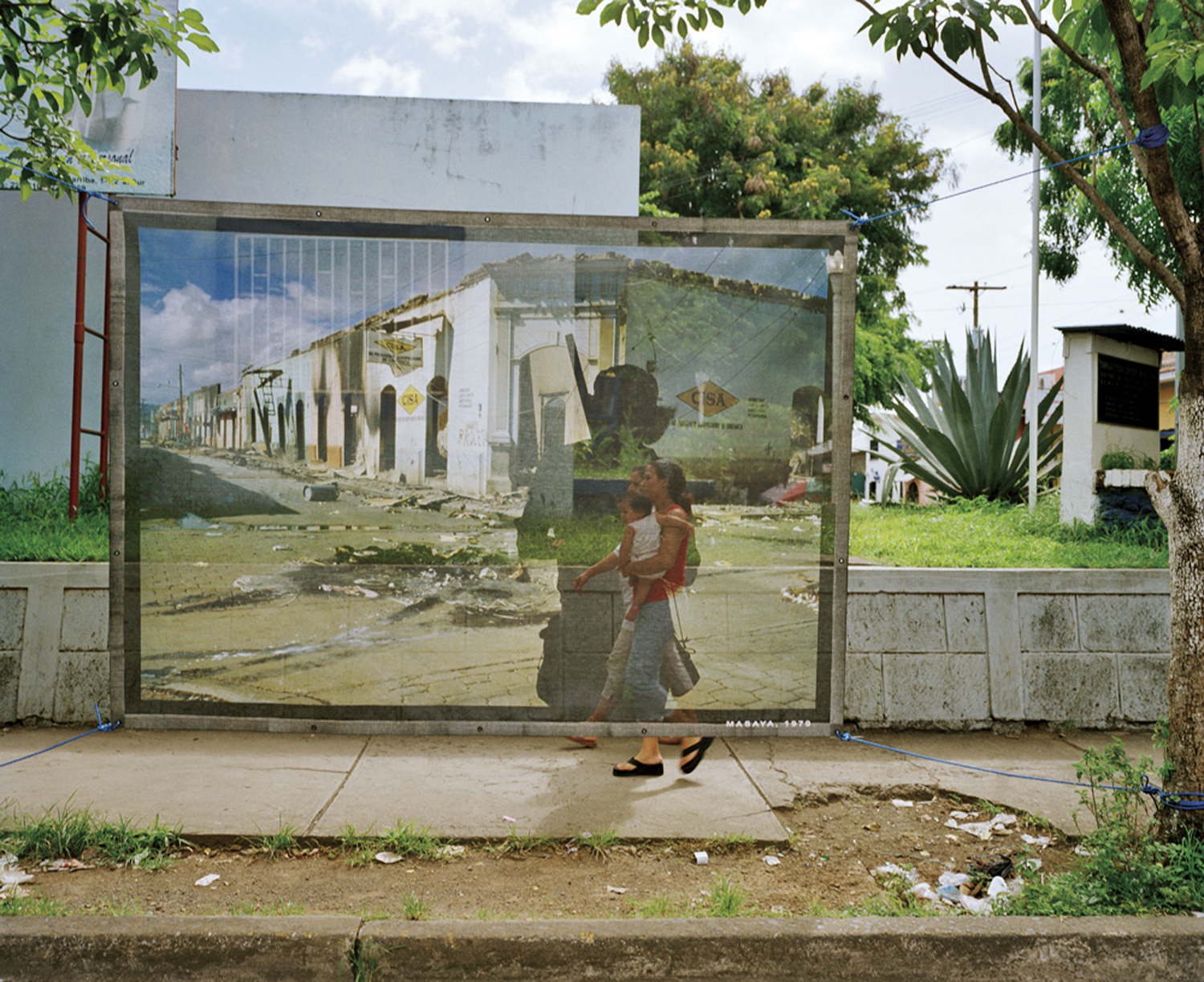 A mural in Masaya, Nicaragua, based on original photographs taken in 1978 during the popular insurrection against Somoza.