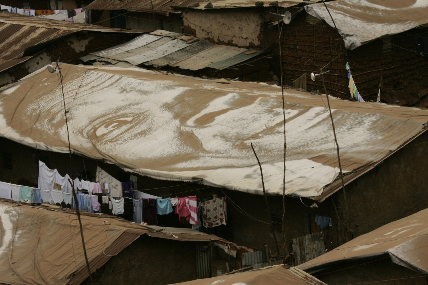 WOMEN: the slum of Kibera, seven months after the action; Nairobi, Kenya, from the series, Women Are Heroes, Aug. 6, 2009.