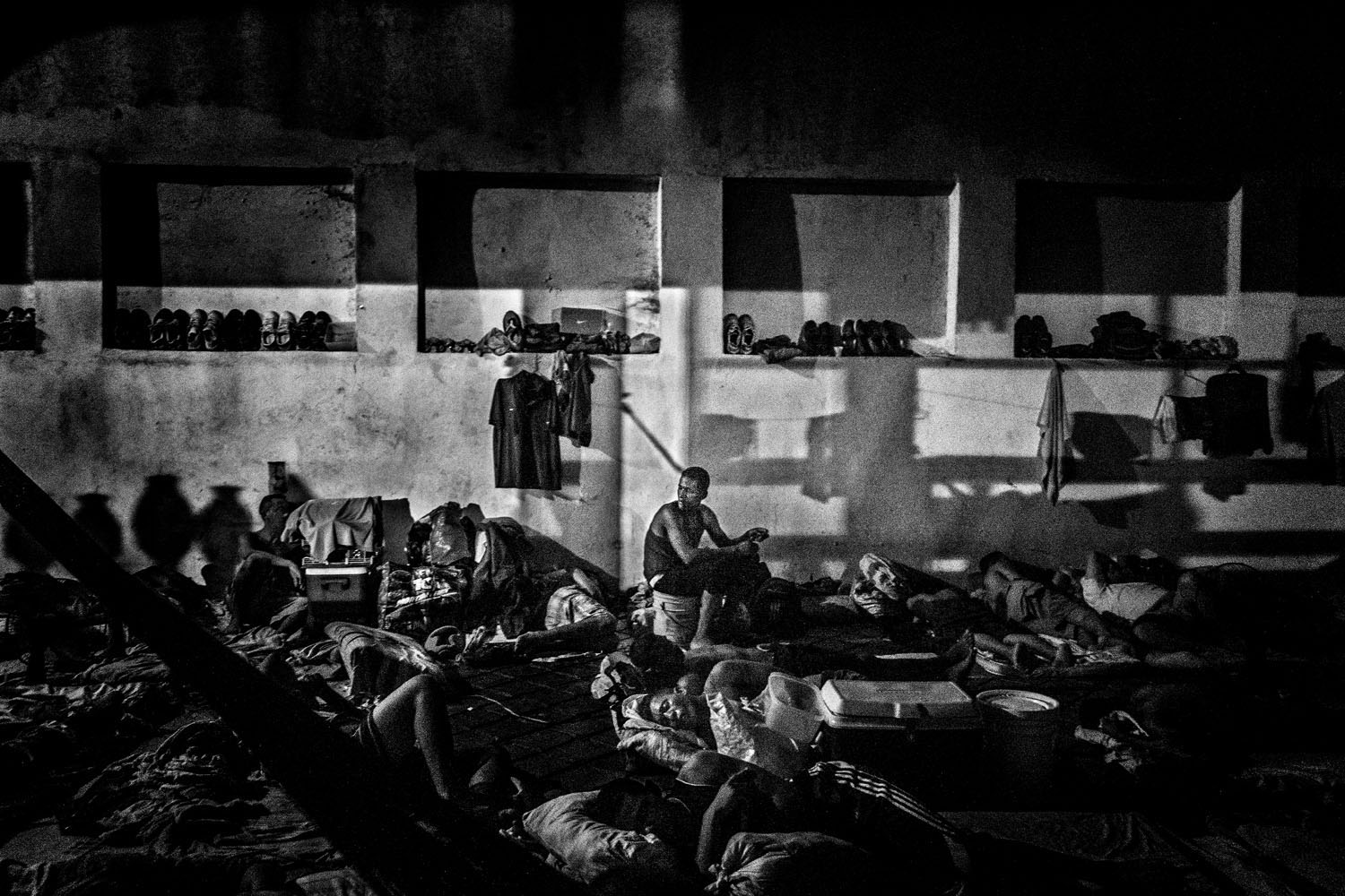 The following photographs were taken at the Vista Hermosa prison in Ciudad Bolivar, Venezuela in March and April 2013.                                                              Drug users and those who violate the unwritten rules imposed by the inmates who control Vista Hermosa are confined to one area known as La Guerrilla.