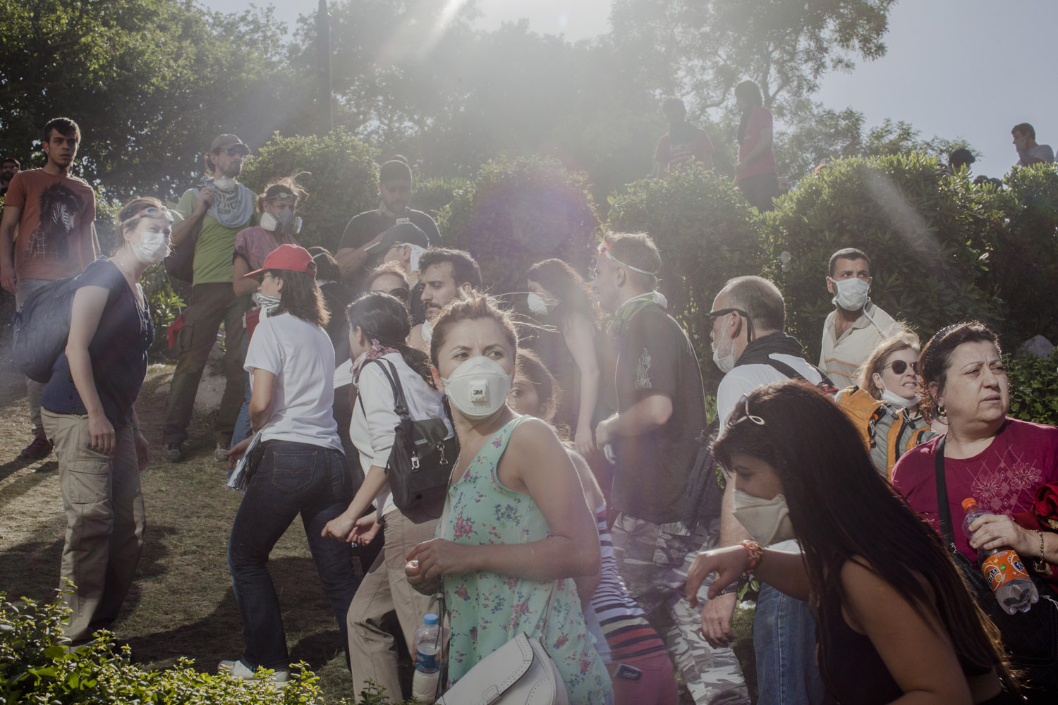 As the police pulled back from the Gezi park area, thousands and thousands of people streamed into the park to join the anti-government protesters.