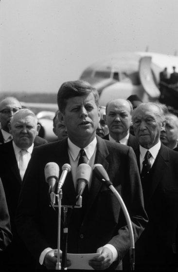 President John F. Kennedy in Cologne, Germany, June 1963.