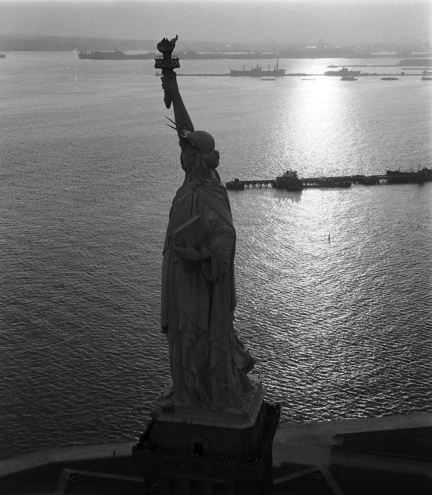 Statue of Liberty, 1956.