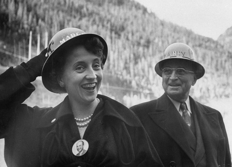Harry Truman and daughter Margaret, 1952.