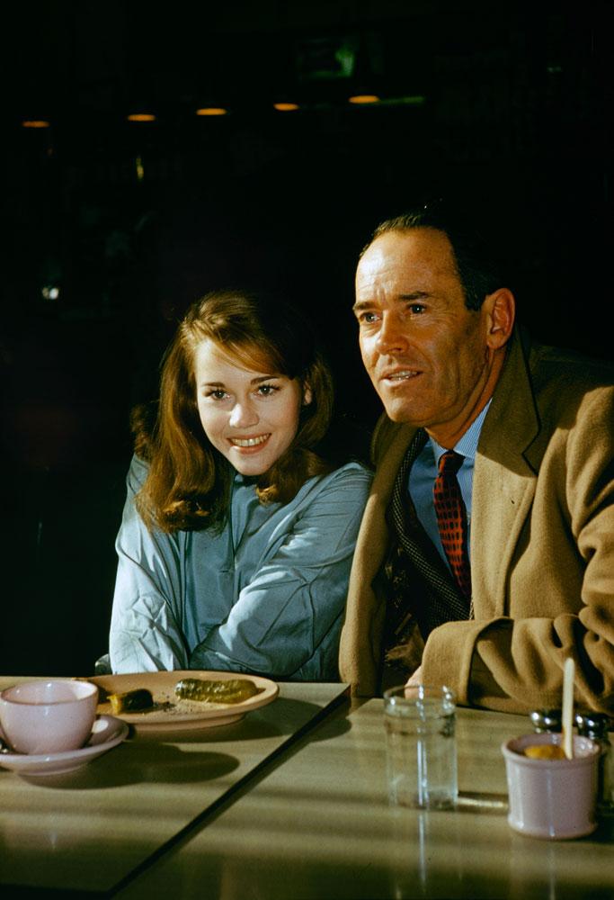 Henry Fonda with daughter Jane, 1960.
