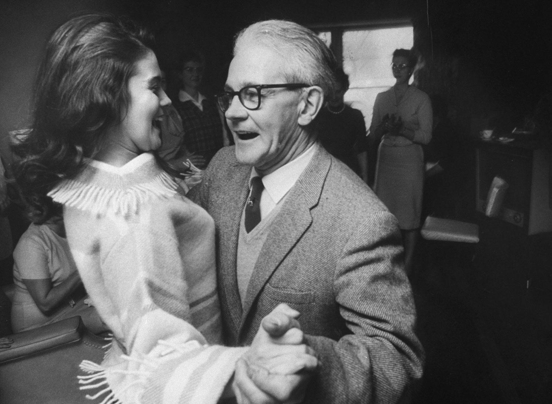 Ann-Margret with her father Gustav Olsson, 1961.
