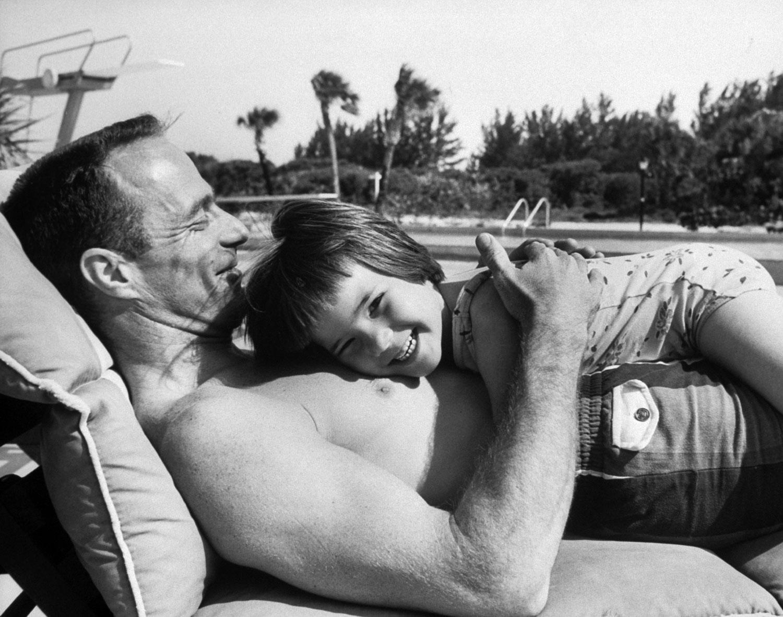 Astronaut Scott Carpenter with daughter Candy, 1962.