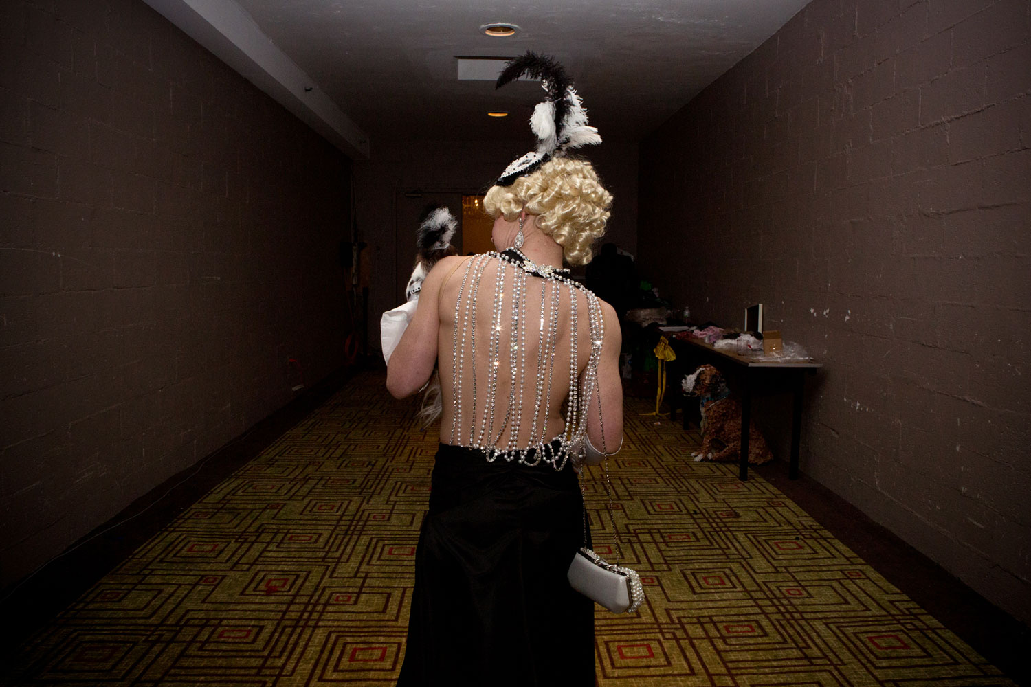Summer Strand and her Chihuahua, Angel Song, at the Roaring Twenties Pet Fashion Show presented by Tropiclean and hosted by The Hotel Pennsylvania.