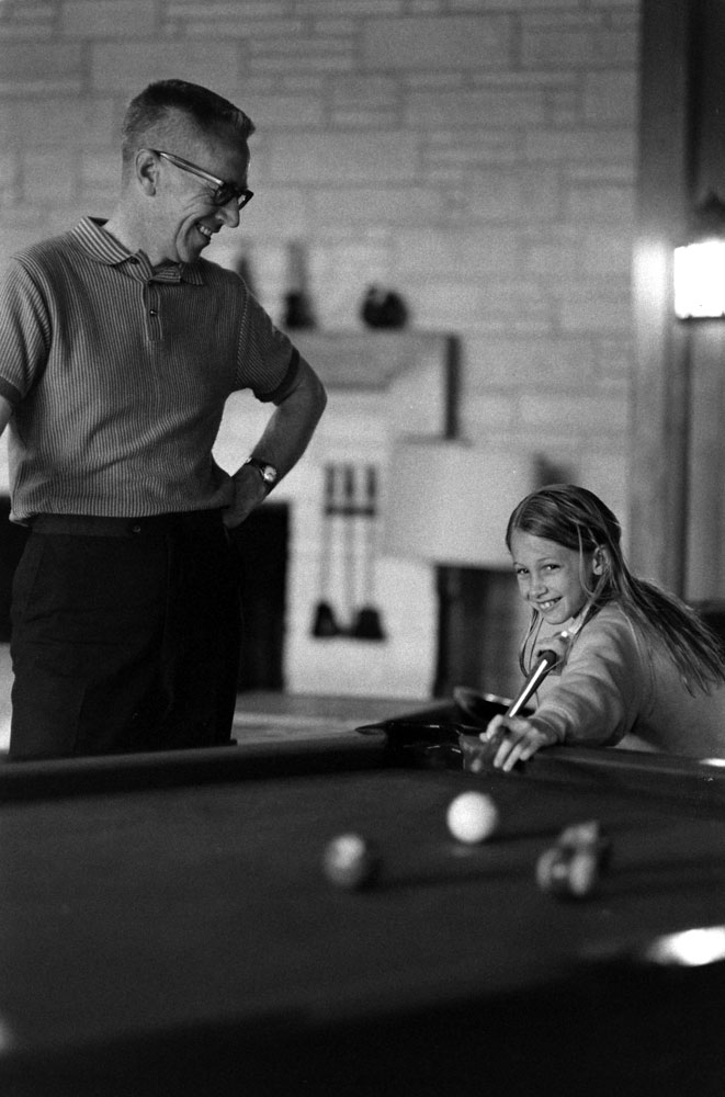 Charles M. Schulz and daughter Jill, 1967.