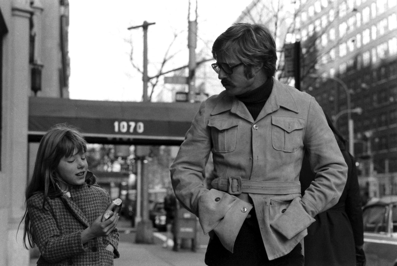 Robert Redford and daughter Shauna, 1969.