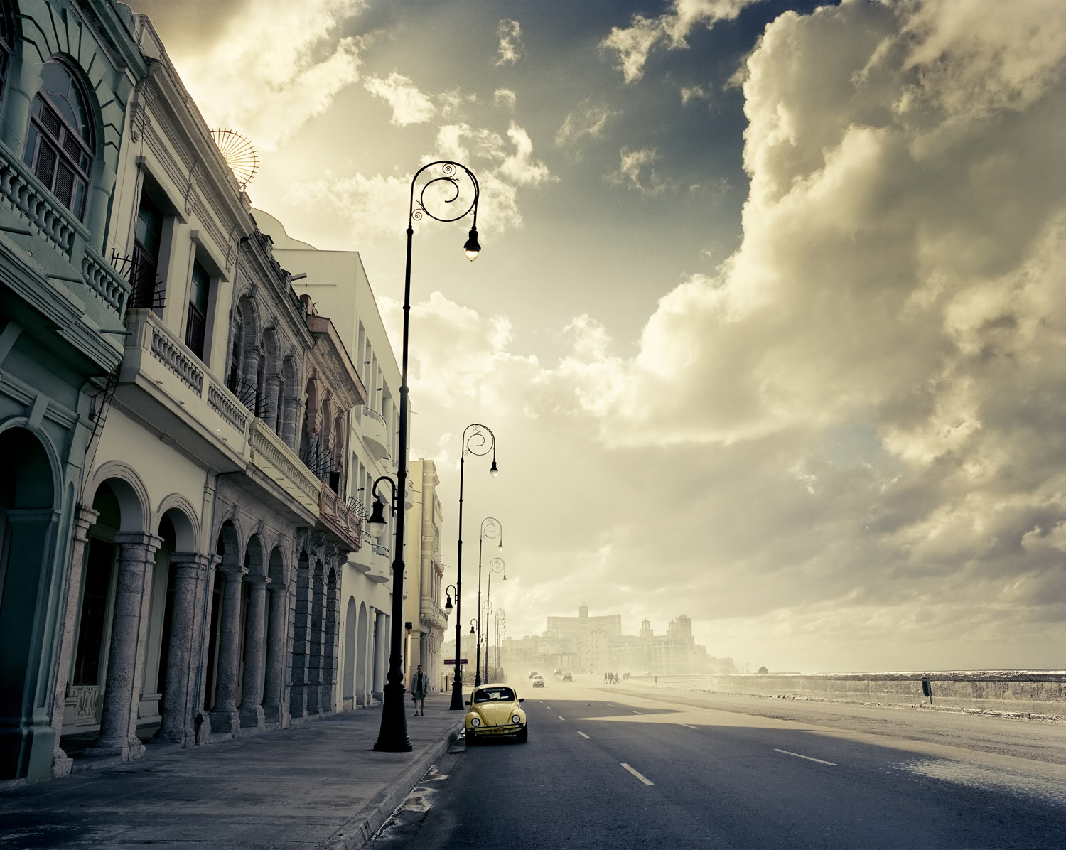 Havana's most famous street, the Malecón, as a cold front rolls in.
