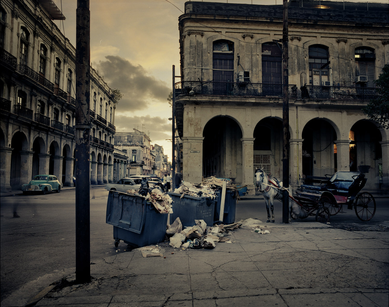 Dusk falls on Old Havana.
