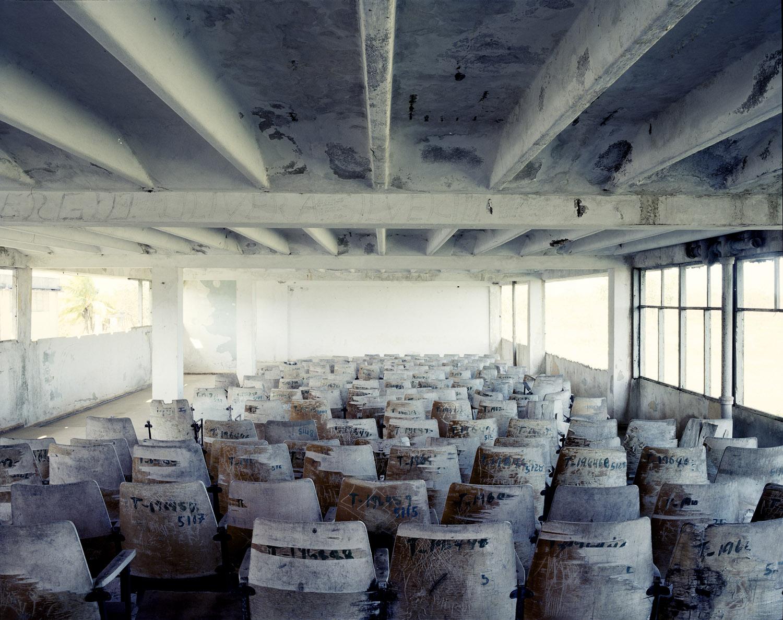 A huge concrete school building.