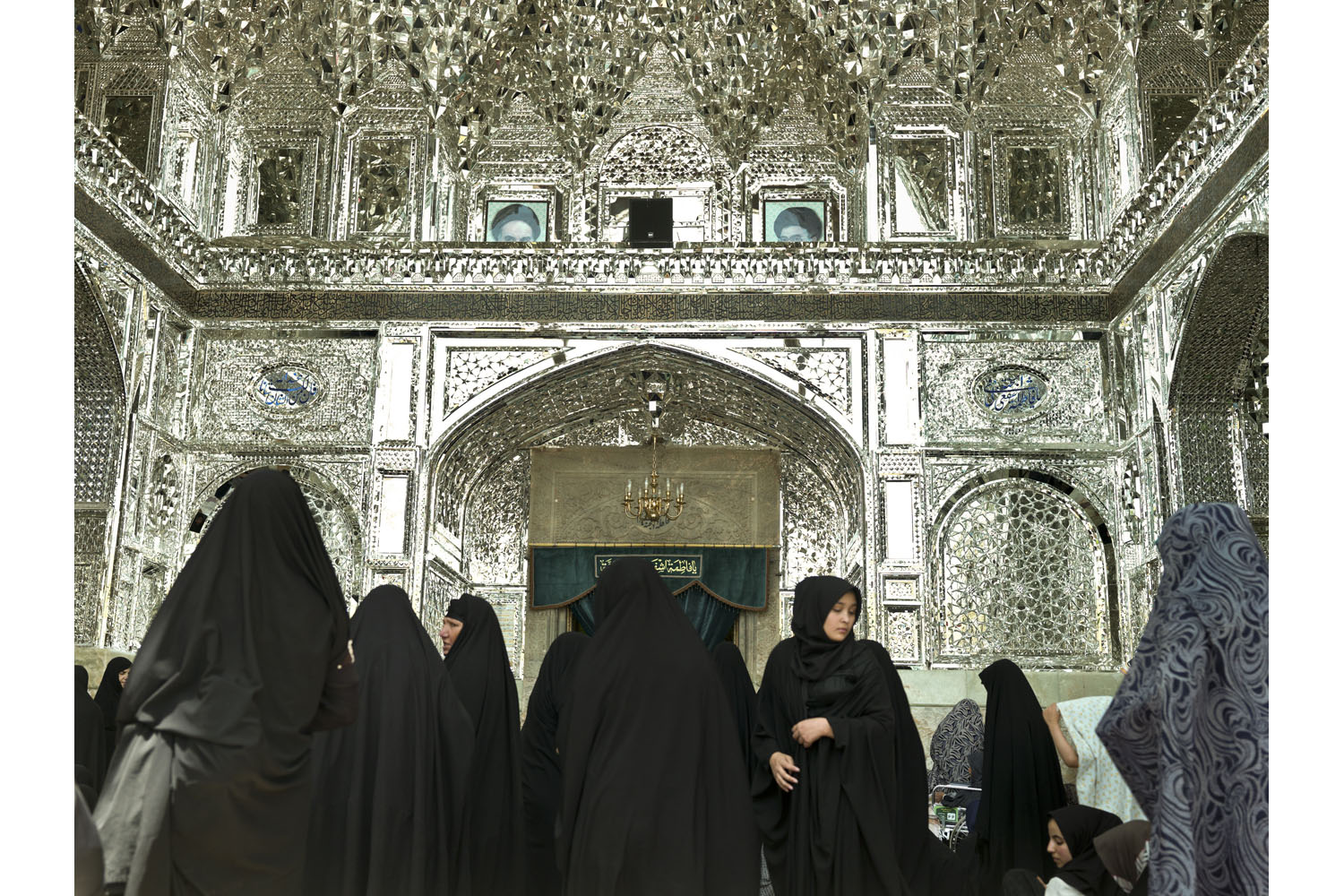 Iranian women at the 17th century shrine of Fatemeh Masoumeh in the holy Shiite city of Qum.