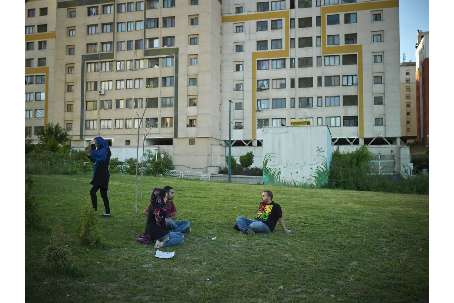 Young Iranians hang out in the western part of Tehran, where mostly middle class families live.