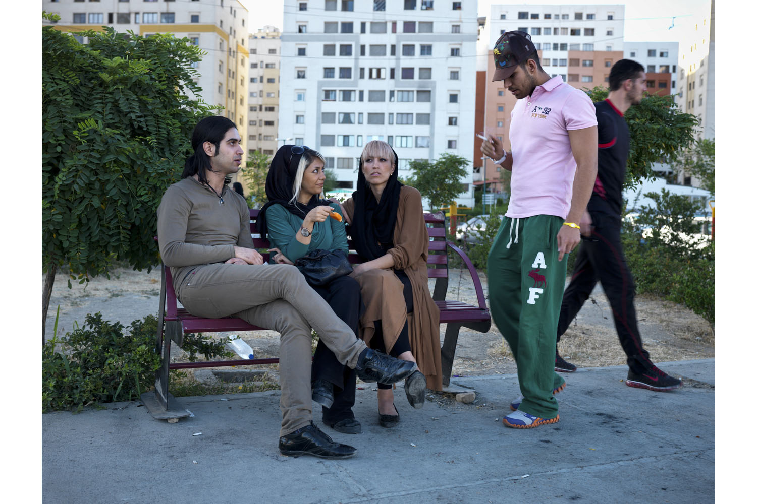 Young Iranians in Western Tehran. The youth vote helped put Rouhani over the top.