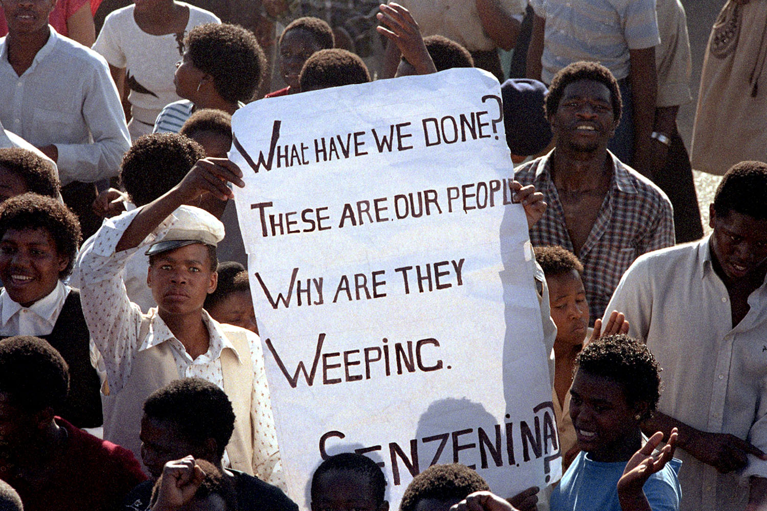 As their leader Nelson Mandela was sent to prison for life for his aspirations of a non-racist, non-sexist democratic South Africa, it was common that hundreds of thousands of black South Africans would congregate in a township somewhere in the country each weekend to protest apartheid and to mourn the deaths of loved ones killed protesting.