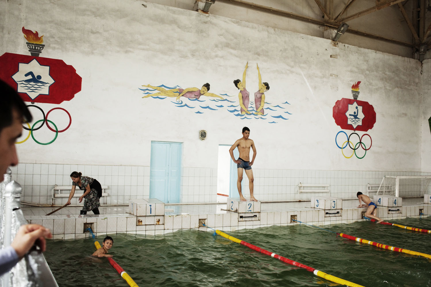 A Soviet era swimming pool in Mary. Irrigation projects during Soviet times turned this oasis city into a center for cotton production.                               Mary, Turkmenistan