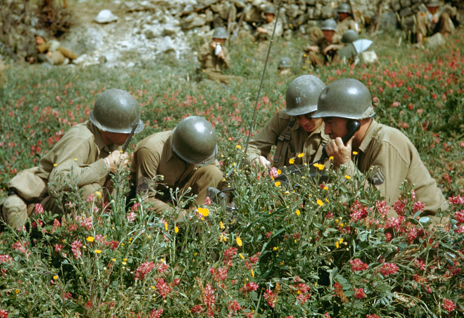 Not published in LIFE. Liri Valley, on the road to Rome, 1944.