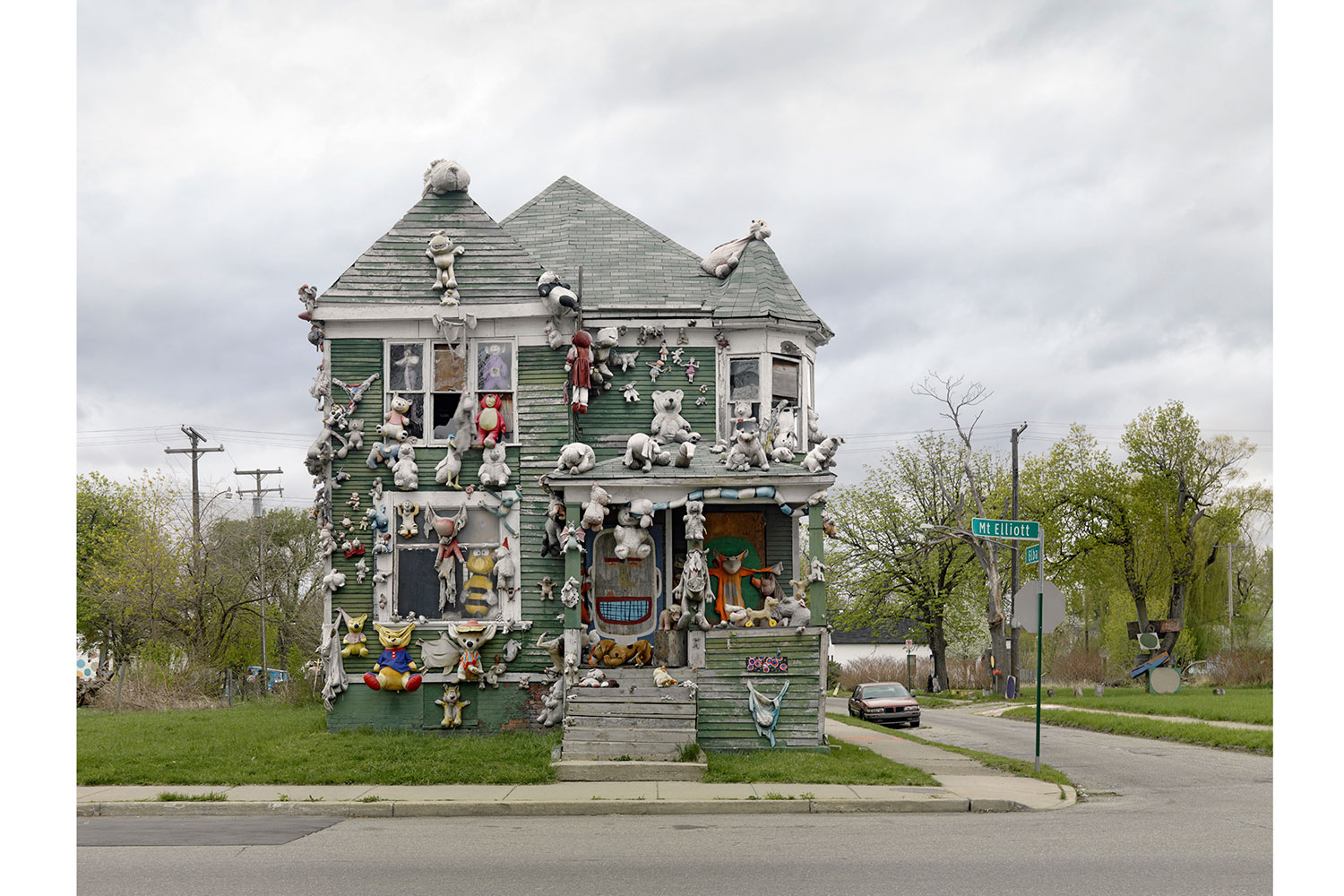 Animal House, Heidelberg Project, Detroit, 2010                                                              The Heidelberg Project, now in its 26th year, is an open-air art project in the heart of an urban community on Detroit's east side. Tyree Guyton, founder and artistic director, uses everyday discarded objects to create a two-block area full of color, symbolism and intrigue.