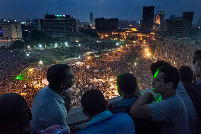 Massive demonstrations turned to celebration in and around Tahrir Square, Cairo, Egypt, July 3, 2013, as Egyptian President Mohamed Morsi was ousted by the military and taken into custody. Photograph by Yuri Kozyrev—NOOR for TIME