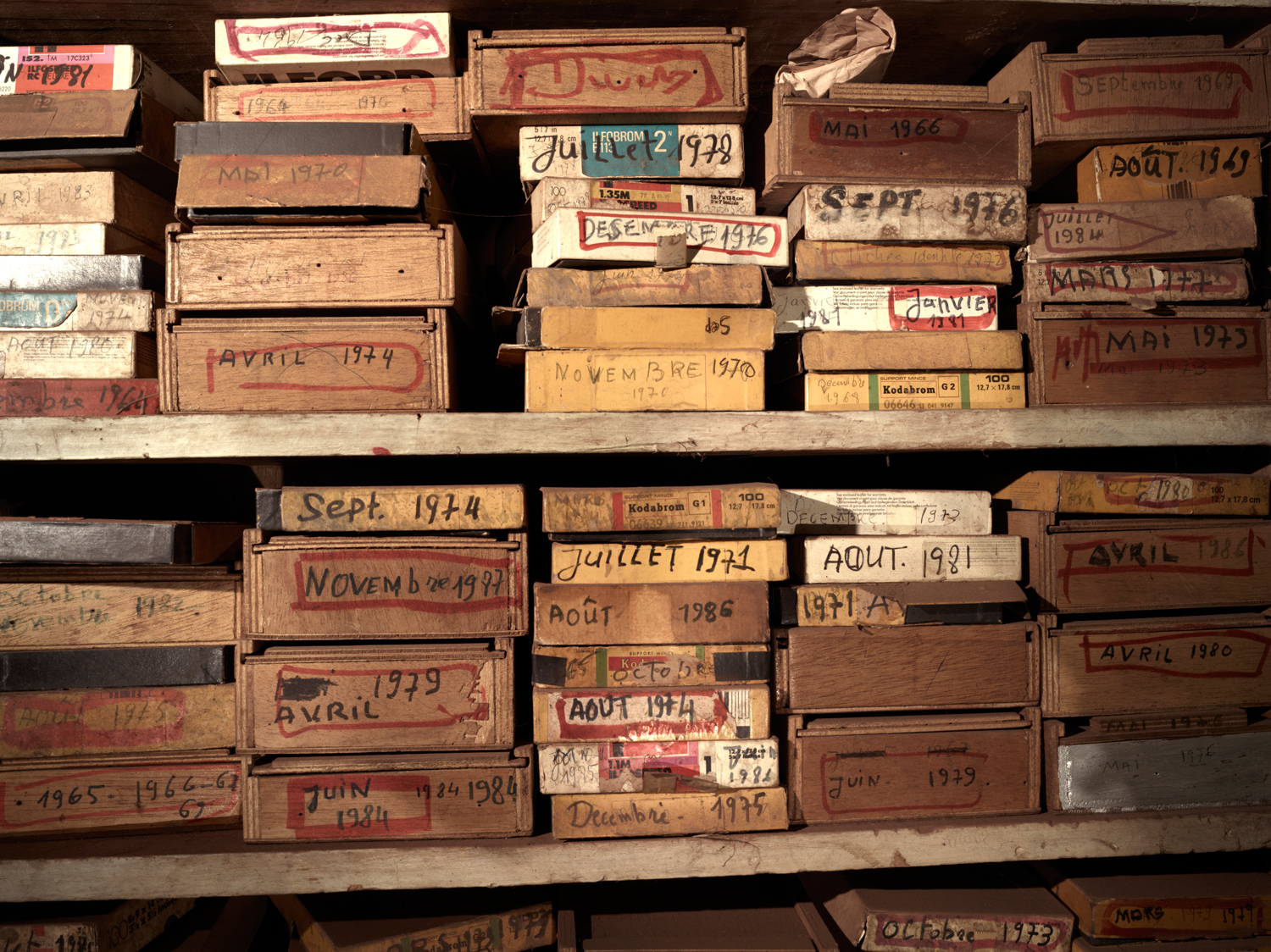 Inside Malick Sidibe's home, a huge archive of negatives sits piled up and unprotected. Sidibe and his sons are trying to find people to help them begin to digitally archive his work before much of it is ruined by moisture and dust.