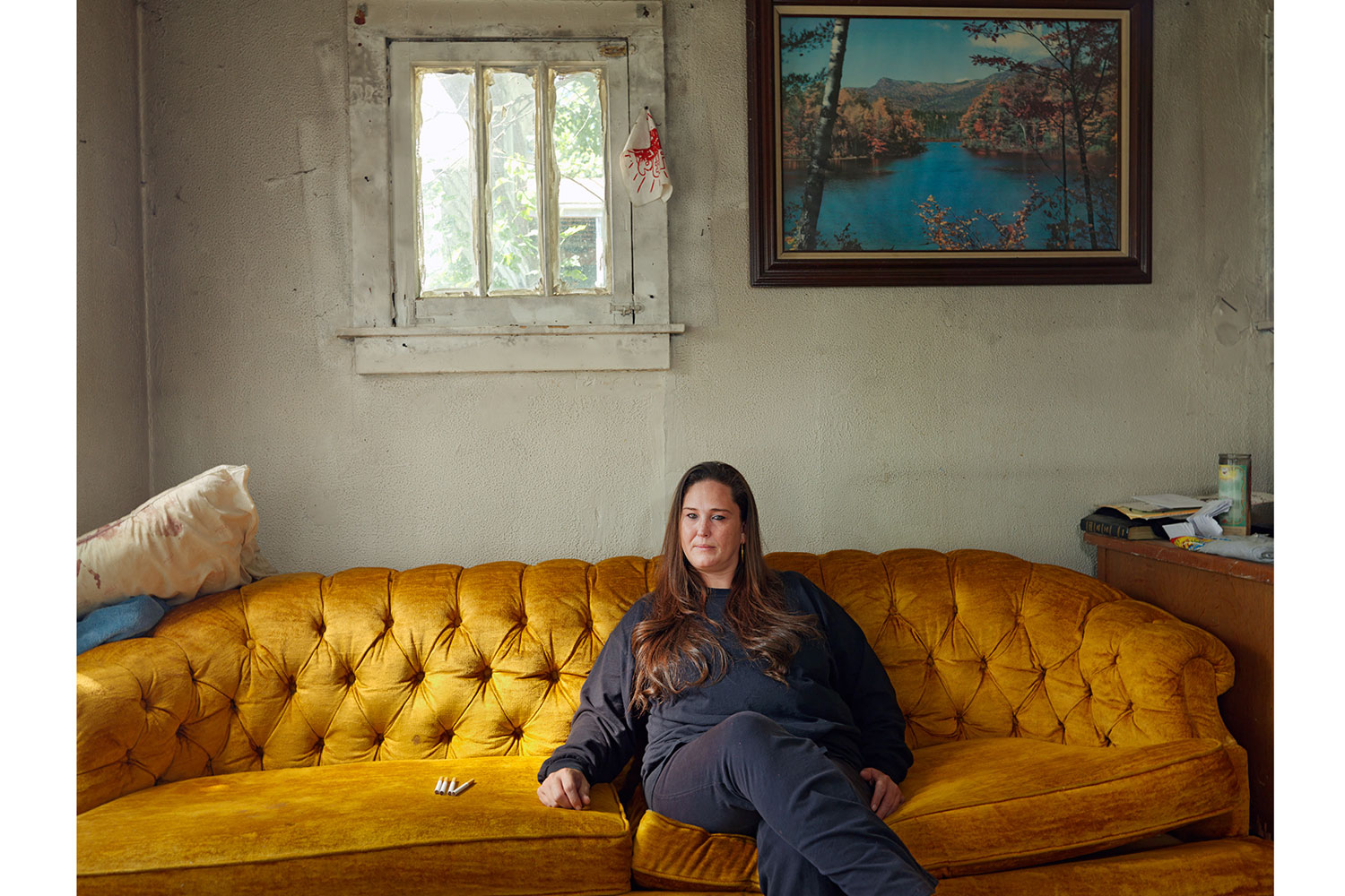 Patricia in Her New House with Her Cigarette Ration, Goldengate St, Detroit, 2012