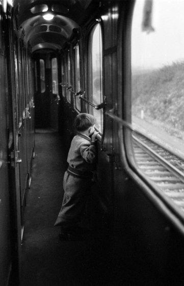 Aboard the Simplon-Orient Express, 1950.