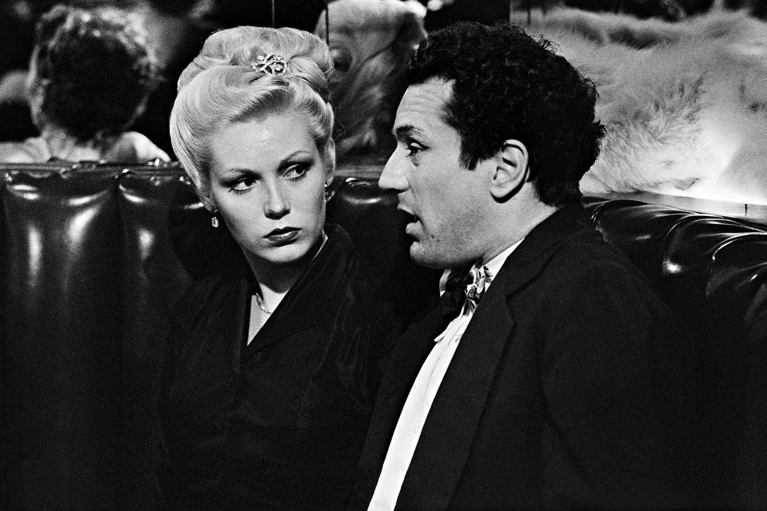 With Cathy Moriarty in a booth at the Copa Cabana.