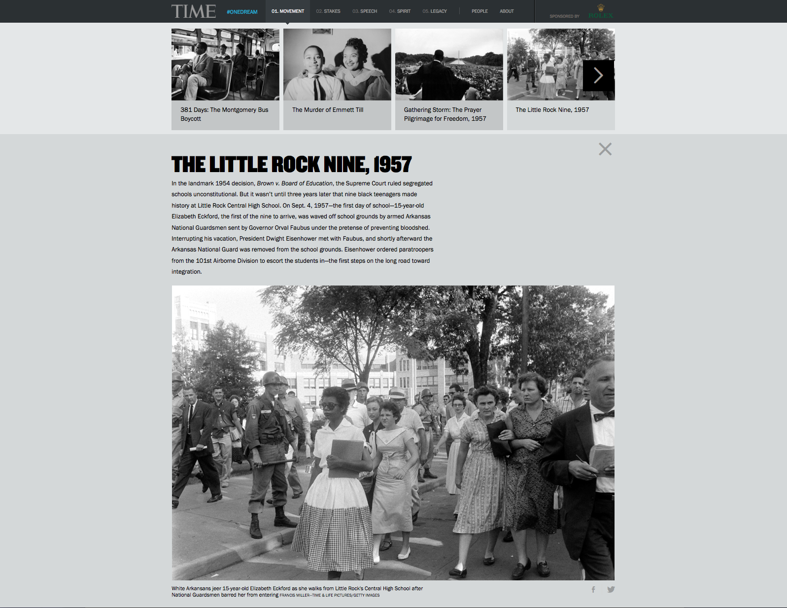 TIME's new microsite includes more than 18 galleries of images culled from the vast LIFE archives, including some never-before-published photographs from the march.