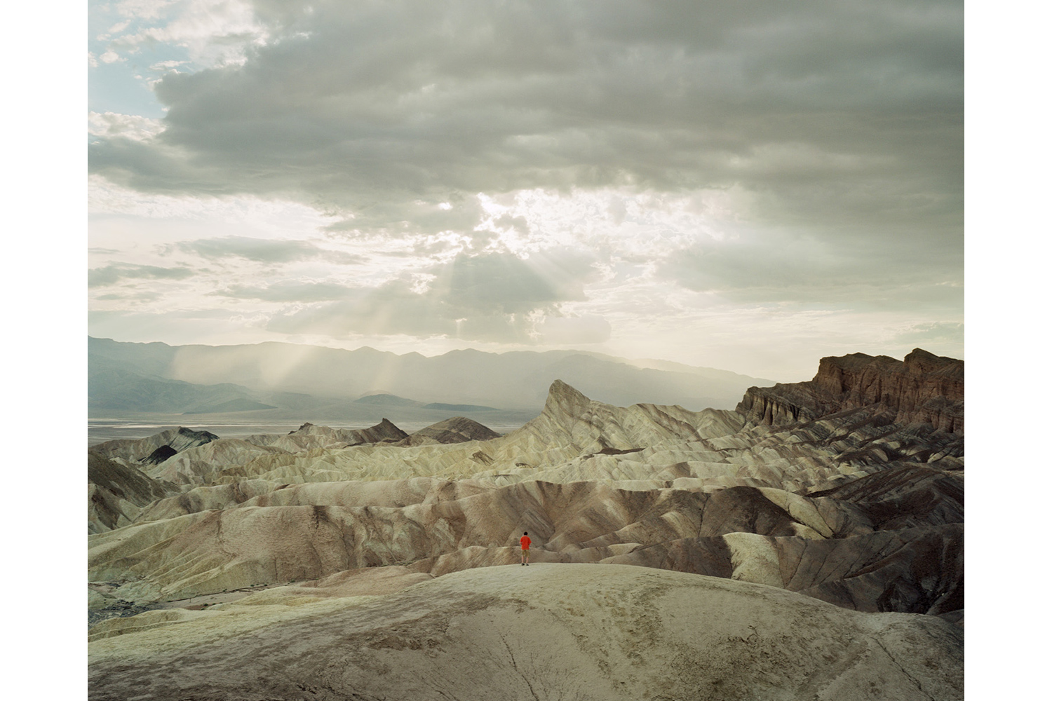 Zabriskie Point, located east of Death Valley in Death Valley National Park, USA, 2005