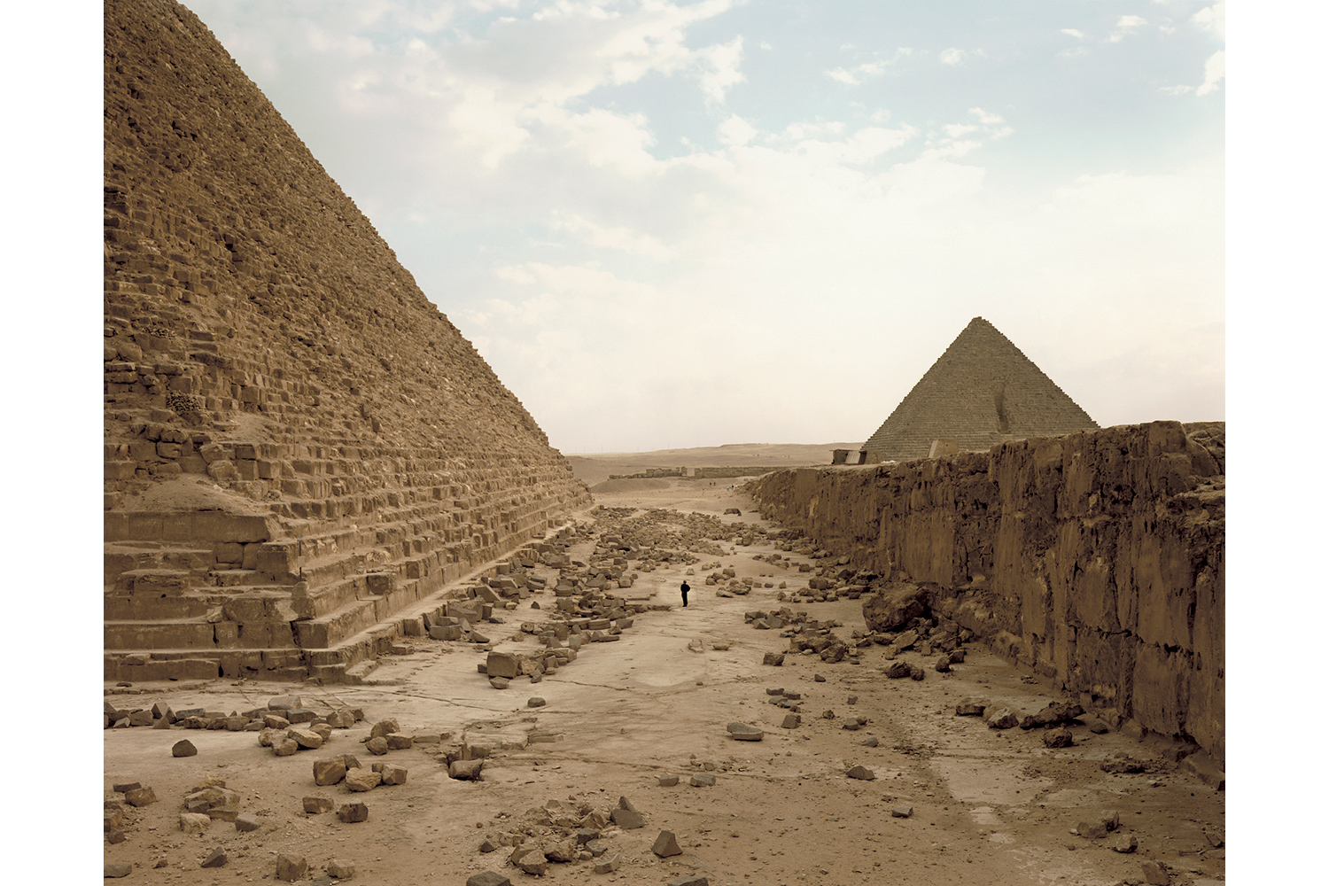 White Man Contemplating Pyramids, Giza, Egypt, 1989